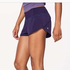 "Lululemon dark purple Speed Up short 2.5"""
